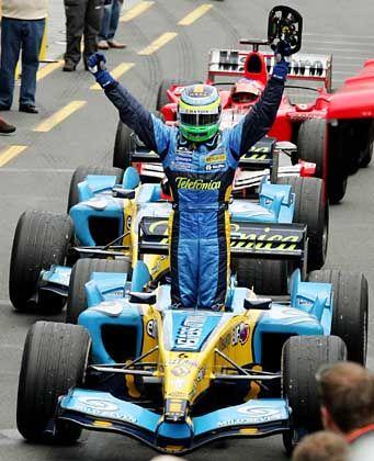 Giancarlo Fisichella in seinem Renault: Sieg in Australien