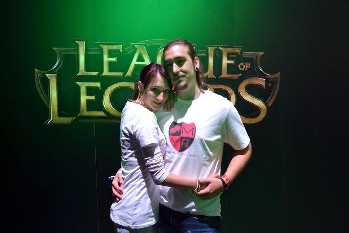 Yvonne und Moritz: Eines von vielen Pärchen auf der Spielemesse Gamescom