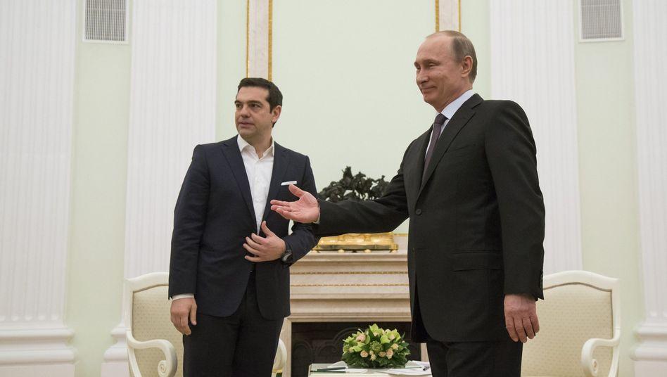 Tsipras, Putin am 8. April in Moskau: Kommt es schnell zu einem Abkommen?