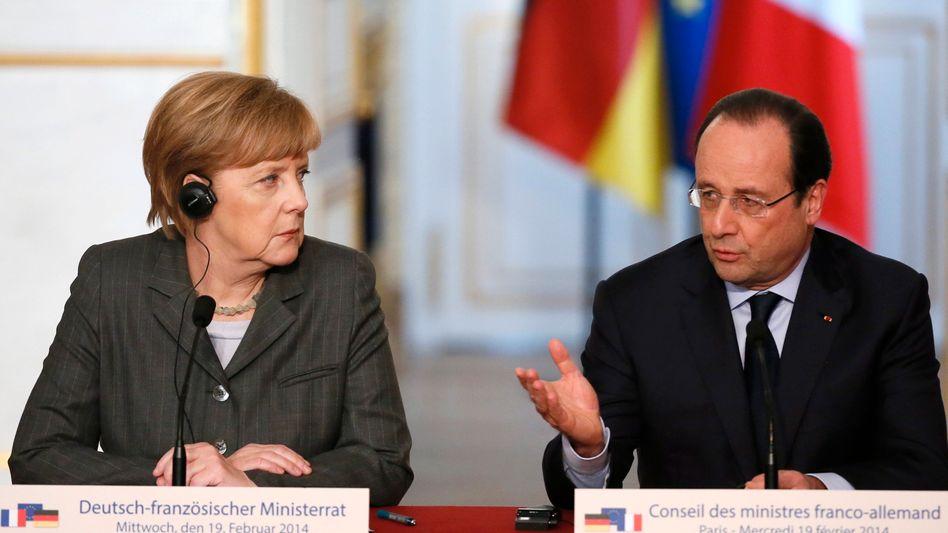 """Merkel und Hollande: """"Wir fühlen mit den Menschen"""""""