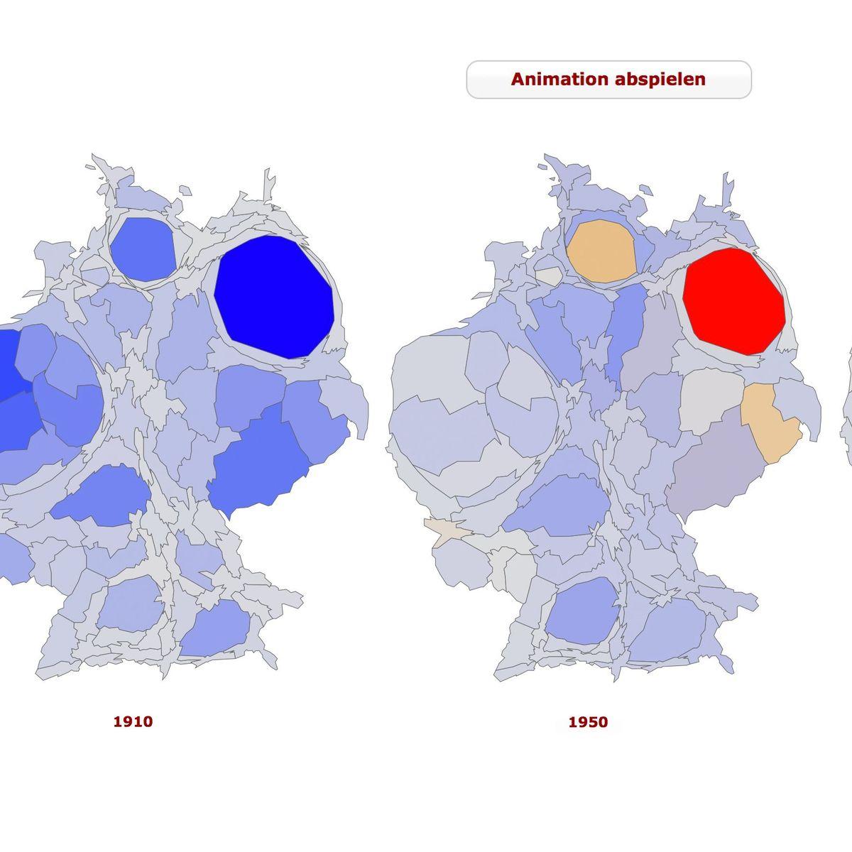 Datenlese 175 Jahre Im Zeitraffer Bevolkerung Morphing Der Spiegel