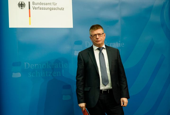 Thomas Haldenwang auf der Pressekonferenz in Berlin (15. Januar 2019)