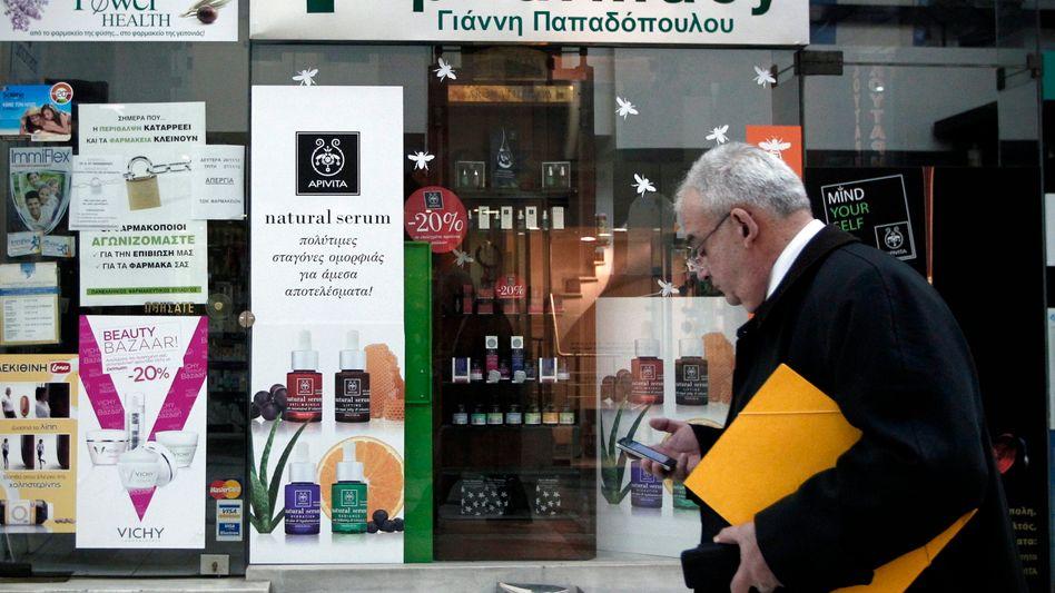 Apotheke in Athen: Jetzt gibt's weitere Hilfen aus Brüssel