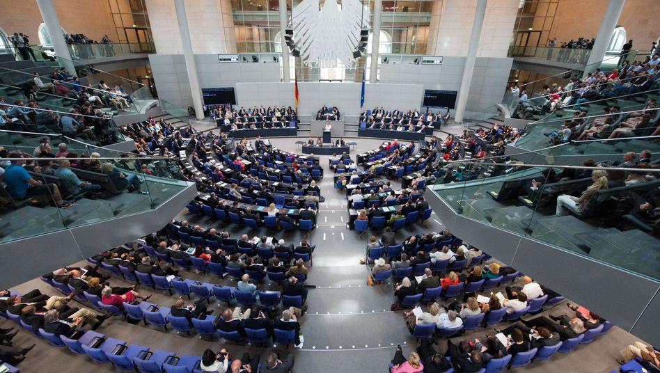 Abstimmung im Bundestag (Archivbild): Mehrheit für Griechenland-Hilfen