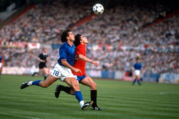 Mancini at the 1988 European Championship game against Spain