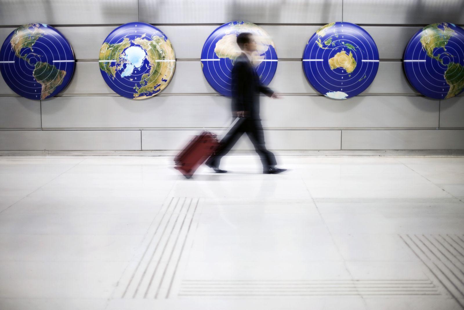 NICHT MEHR VERWENDEN! - Weltkarte / Koffer / Zielscheibe / Gehen / Gepäck