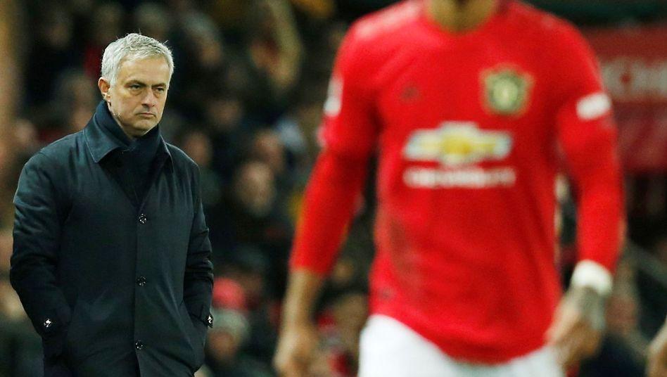José Mourinho (l.) war nicht glücklich