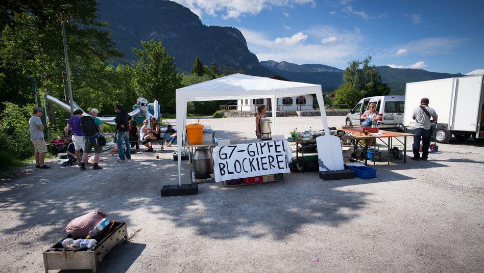 Abgesperrter Platz für G7-Gegner in Garmisch-Partenkirchen: Juristischer Erfolg für Demonstranten