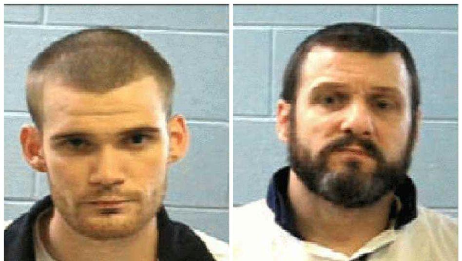 Die Polizei in den USA fahndet nach diesen beiden entkommenen Häftlingen