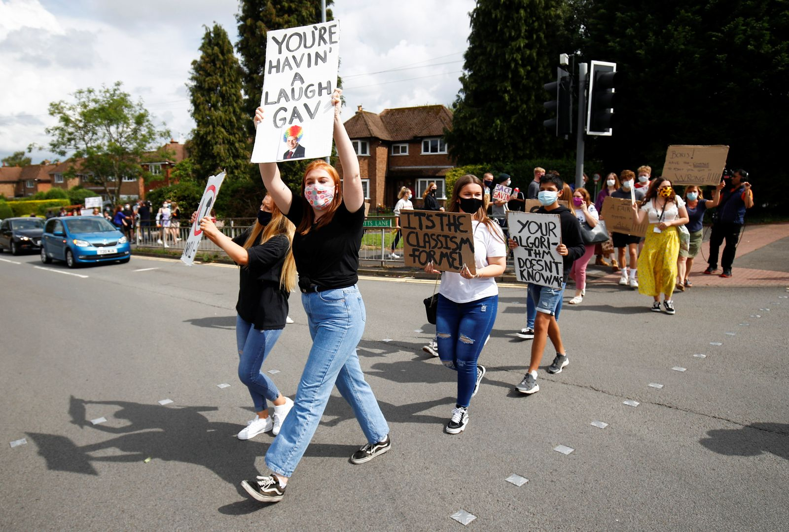 A-level students protest in South Staffordshire
