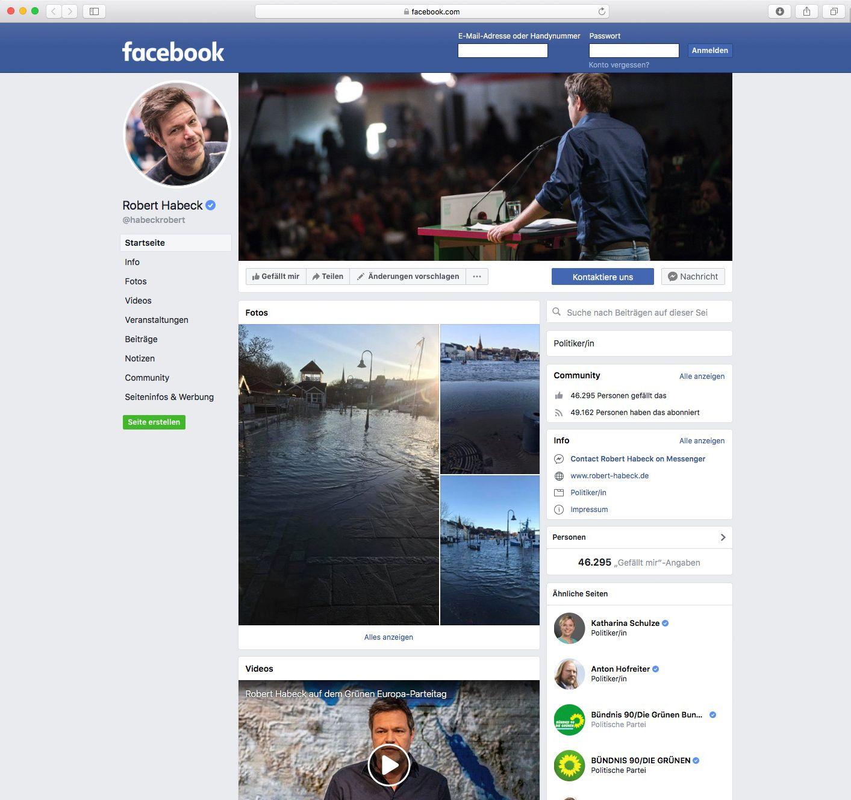 EINMALIGE VERWENDUNG Robert Habeck/ Social Media