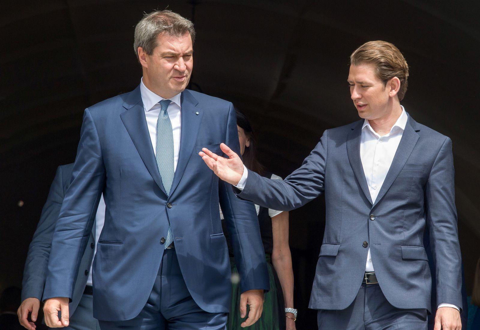 Markus Söder und Sebastian Kurz
