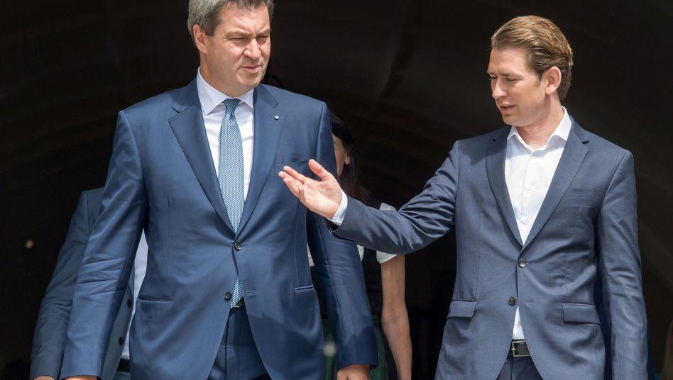 Regierungschefs Söder, Kurz (im Jahr 2018): Klare Sätze formulieren