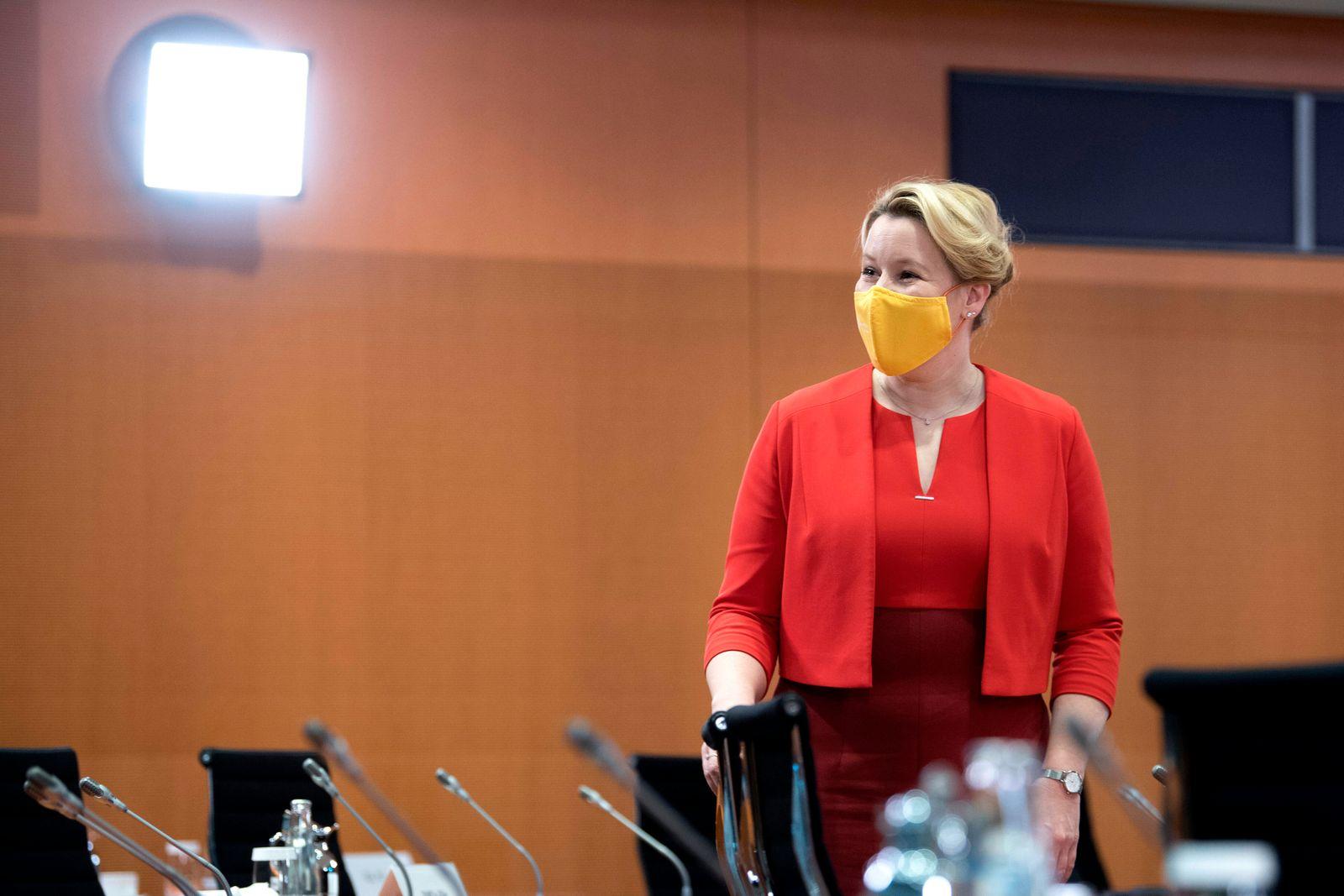 Franziska Giffey, Kabinett DEU, Deutschland, Germany, Berlin, 04.11.2020 Franziska Giffey, Bundesfamilienministerin SPD