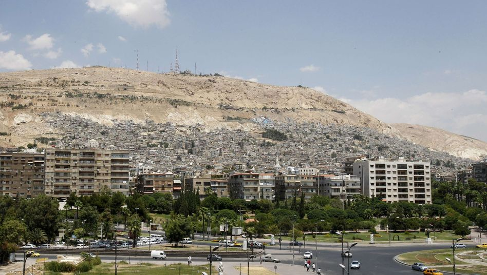 Militärstützpunkt: Der Kassiun-Berg liegt oberhalb von Damaskus
