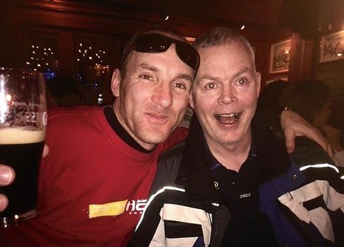 "Irish tourist John Cormack (right): ""The après-ski scene is terrific!"""