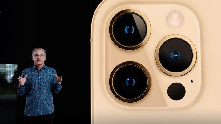 Apple-Marketingchef Greg Joswiak stellt die Kameras des iPhone 12 Pro vor