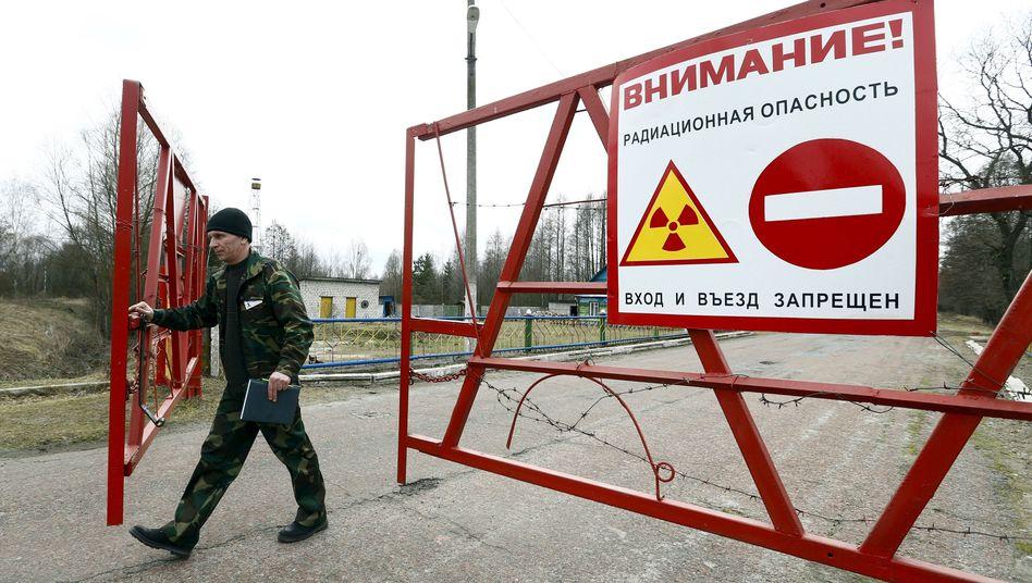 Gesperrte Zone in Weißrussland unweit von Tschernobyl