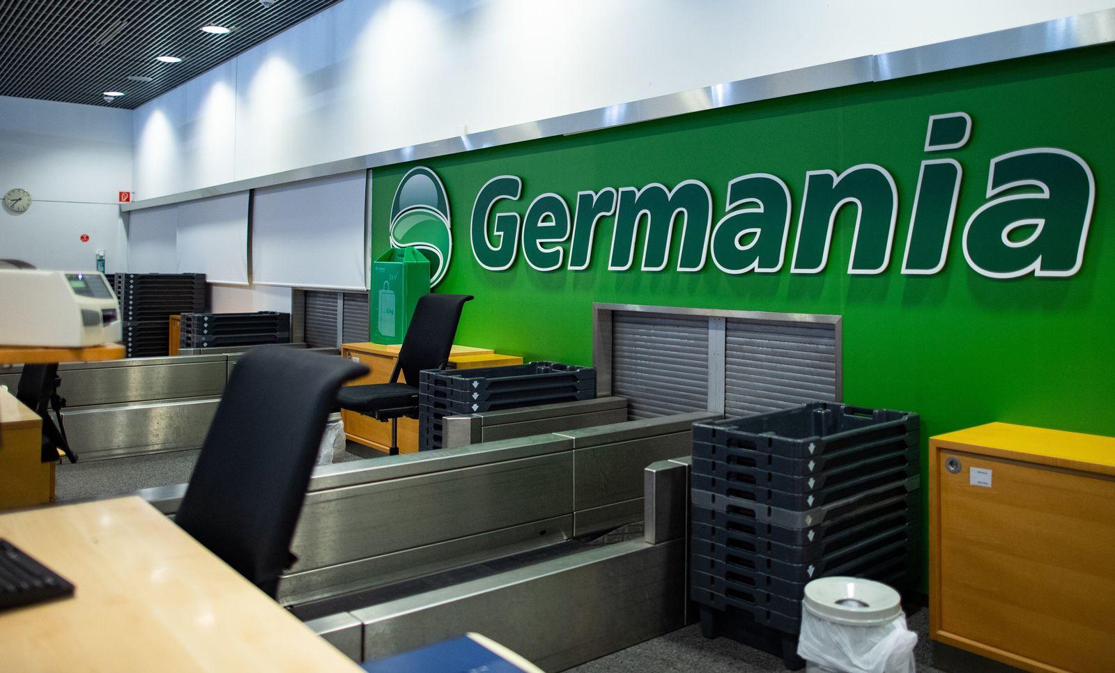 Fluggesellschaft Germania / Gepäckabfertigung