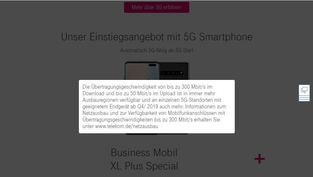 EINMALIGE VERWENDUNG Telekom 5G-Tarife