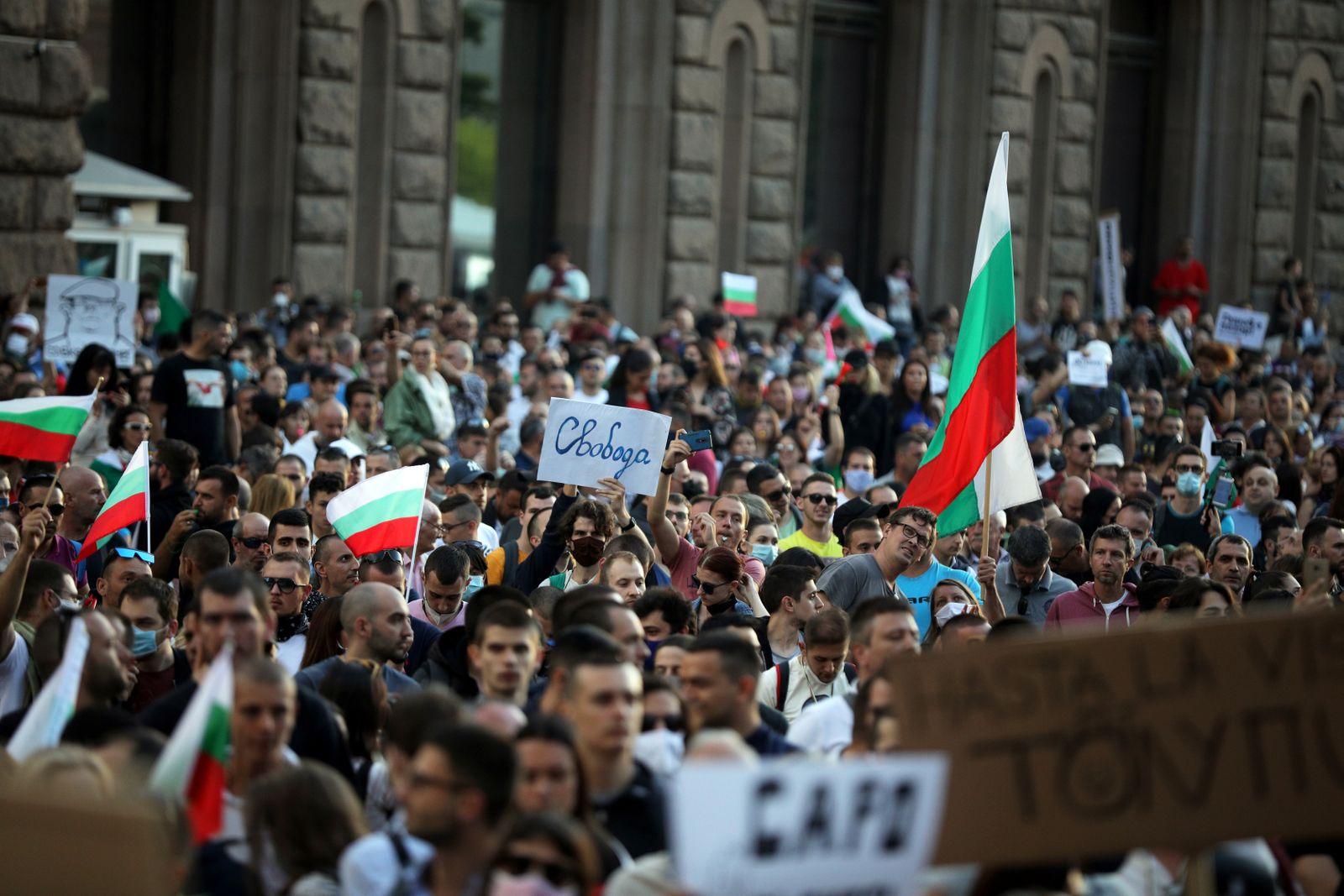 Anti-government protest in Sofia