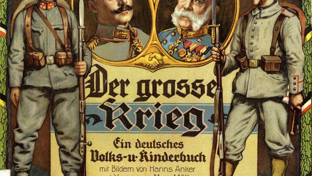 Kinderbücher im Ersten Weltkrieg: Minz und Maunz mit Pickelhaube