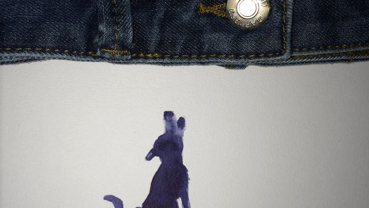 Illustration: Bananenpferd im Sprung