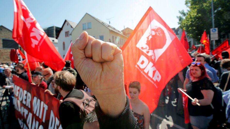 Die Deutsche Kommunistische Partei musste einige Wochen bangen, ob sie bei der Bundestagswahl antreten darf (Symbolbild)