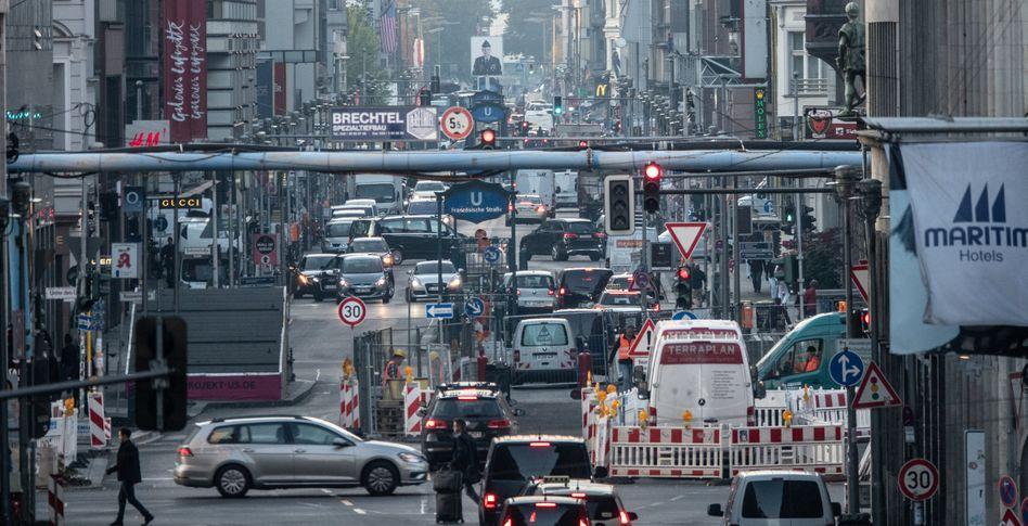 Dichter Verkehr in Berlin