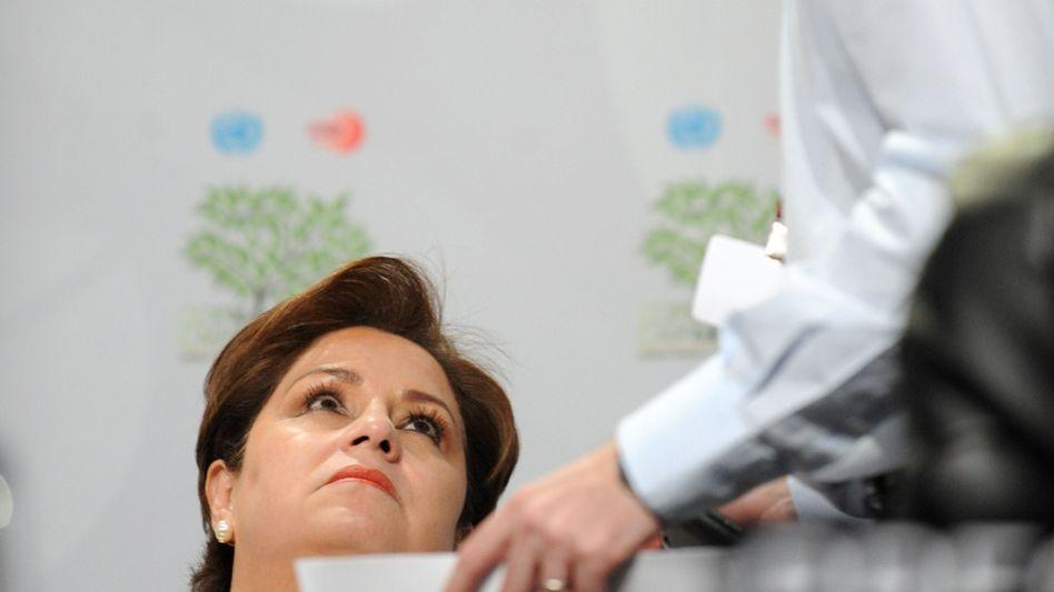 Aufmerksame Zuhörerin: Mexikos Außenministerin Patricia Espinosa