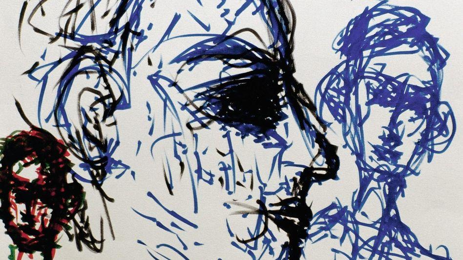 Kunst aus der Psychiatrie: Die Krankheit bedient sich halluzinierter Stimmen, um die Herrschaft über den Geist zu erlangen