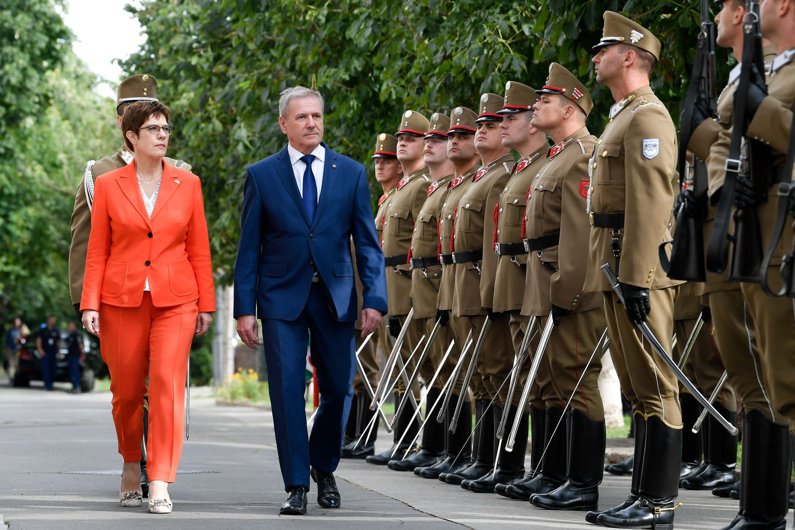German Minsiter of Defence Annegret Kramp-Karrenbauer visits Budapest, Hungary - 16 Jul 2020