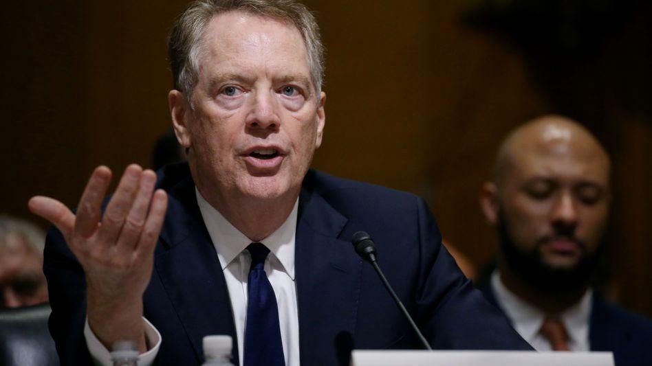 """US-Handelsbeauftragter Lighthizer: """"Nicht mehr Teil der Verhandlungen"""""""