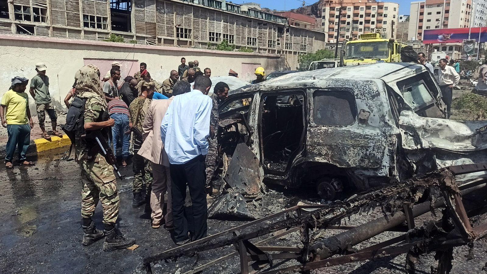 Aden car bomb attack kills at least five people