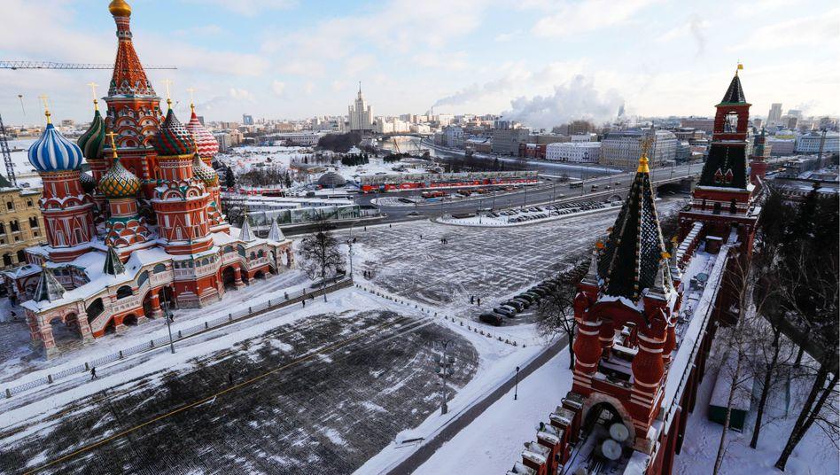 russische Hauptstadt Moskau im Winter (Archiv)
