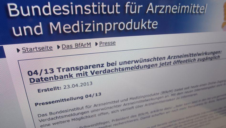 Nebenwirkungs-Portal: Verzeichnis unbestätigter Verdachtsfälle