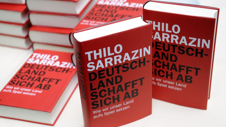 "Sarrazin's new book: ""Germany Does Away with Itself: How We Are Gambling Away our Country."""