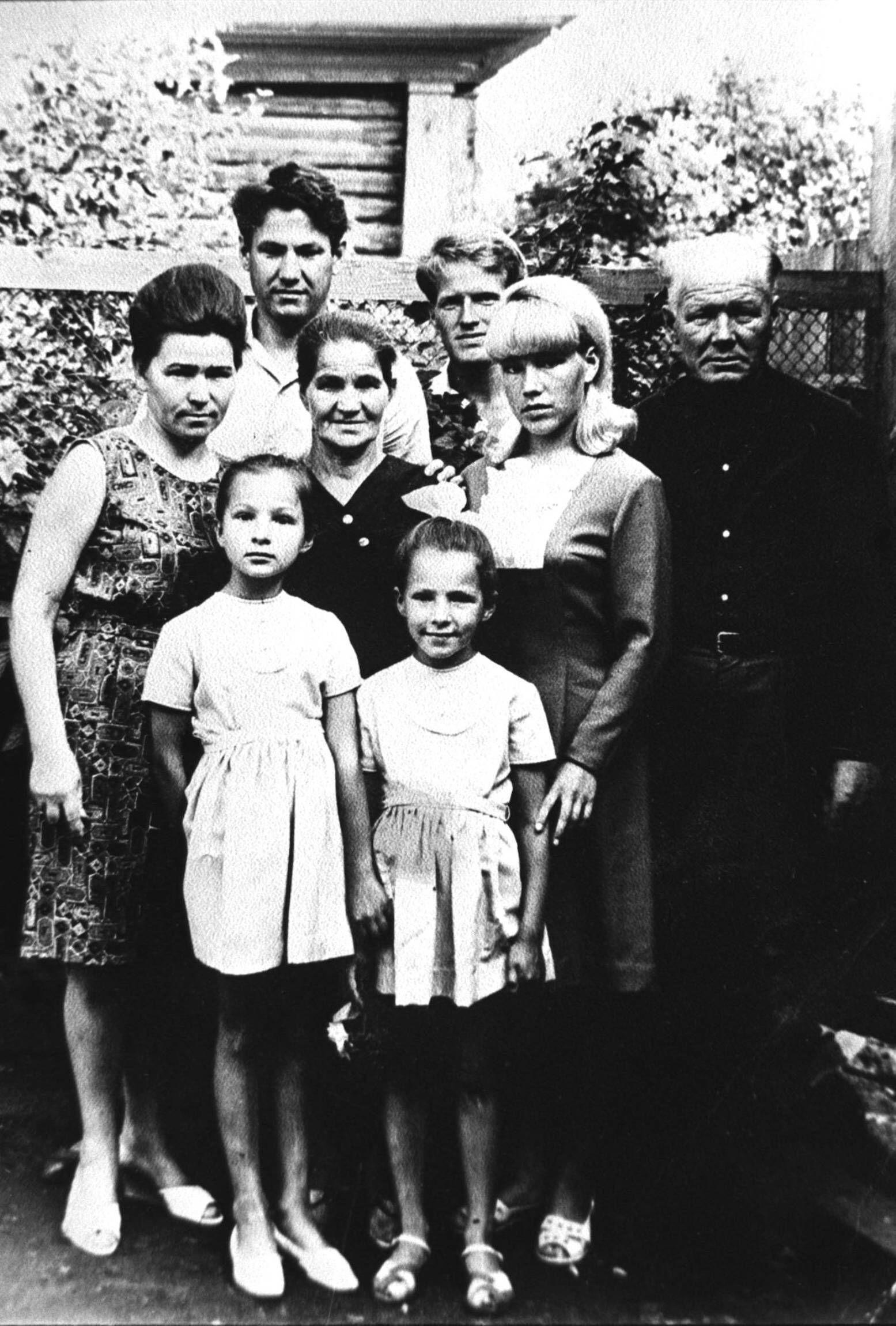 1956 photo from the Photo Biography of Boris Yeltsin. Pictured L-R are Boris Yeltsin s spouse Naina, daughter Elena, Bo