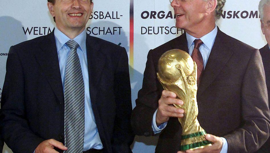 Franz Beckenbauer (r.), Wolfgang Niersbach