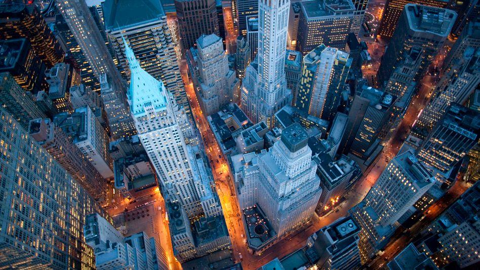 Blick auf die Wall Street: Viele Amerikaner können nicht mit Geld umgehen