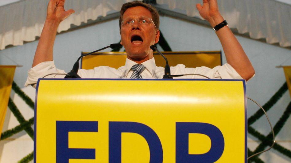 """Guido Westerwelle als Wahlkämpfer (im August 2009): """"Züge von Dekadenz"""""""
