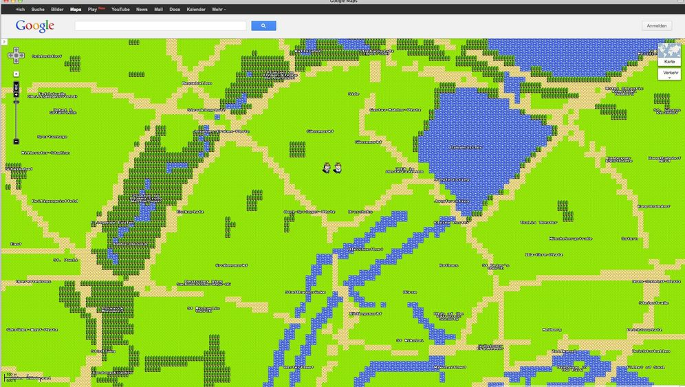Google Maps 8-Bit-Version: Pixelig, aber verspielt