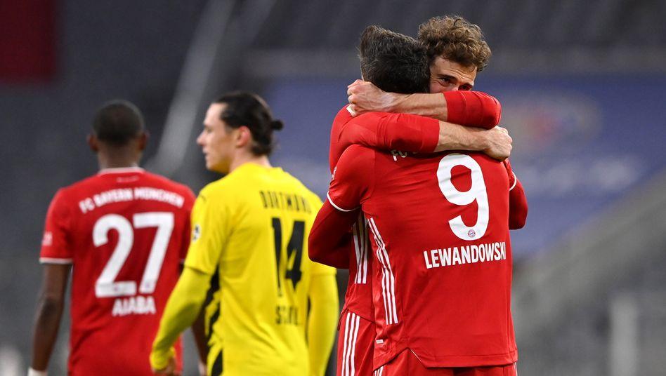 Die Matchwinner Lewandowski und Goretzka