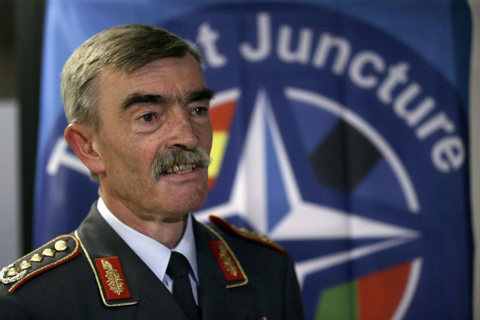 German Bundeswehr Army general Hans-Lothar Domroese at a semina