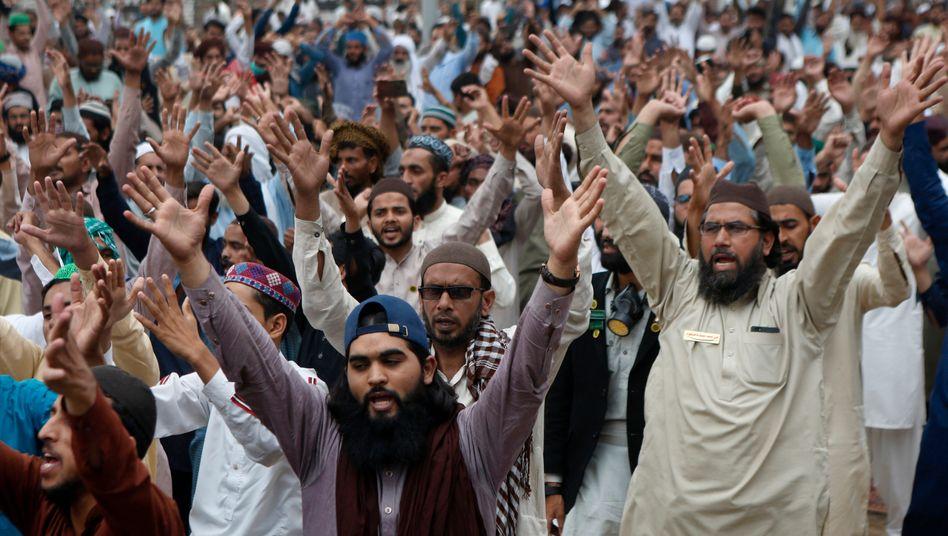 Protestaktion in der Stadt Lahore