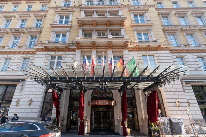 Verhandlungsort Grand Hotel in Wien: Noch keine direkten Gespräche zwischen Iran und USA