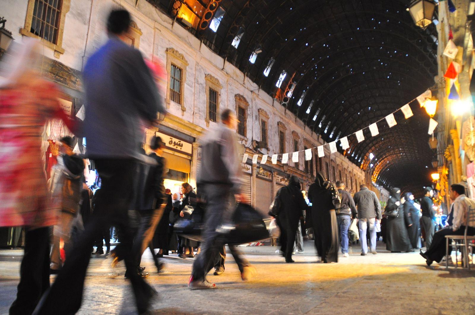 EINMALIGE VERWENDUNG Damaskus Souk Hamidiye