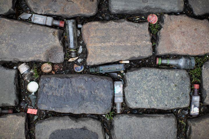 Leere Alkoholflaschen in Köln