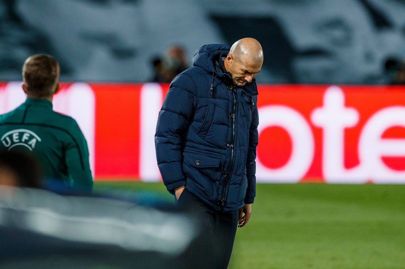 October 21, 2020, Madrid, Spain: Zinedine Zidane of Real Madrid during the UEFA Champions League match between Real Mad