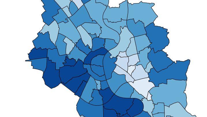 Datengrafiken: Was die Muster der Kölner Stadtteile verraten